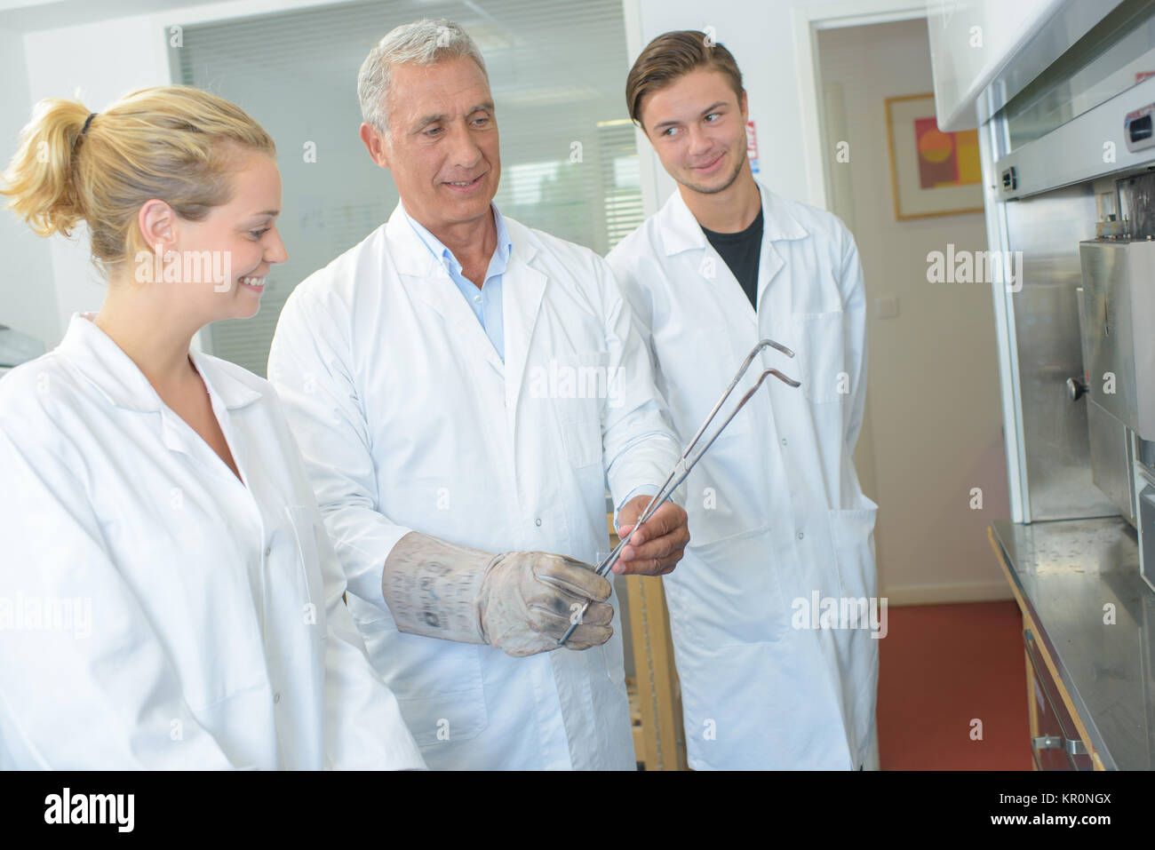 man with rod - Stock Image