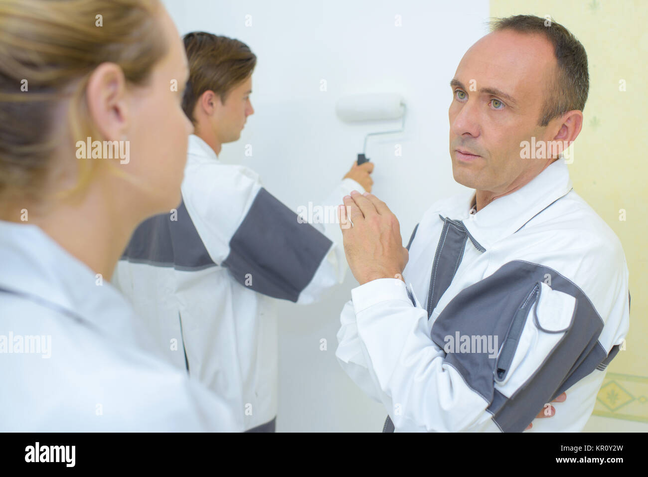 wall painting - Stock Image