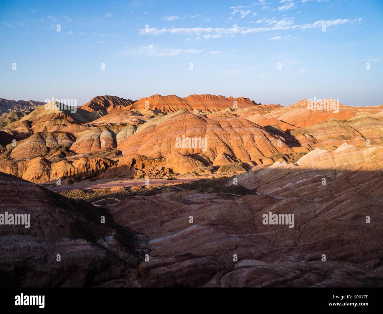 Danxia Landform in Zhangye, Gansu Province, China - Stock Image