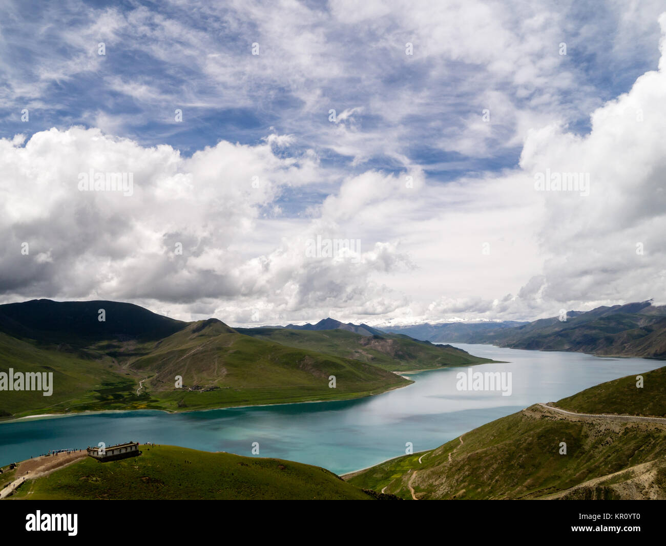 Yamdrok Lake in Tibet, China - Stock Image