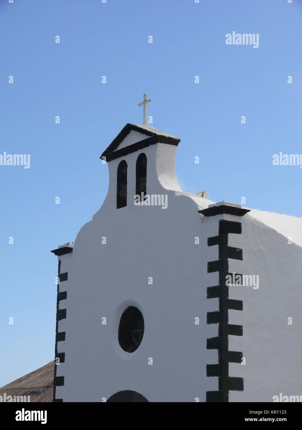 church in lanzarote - Stock Image