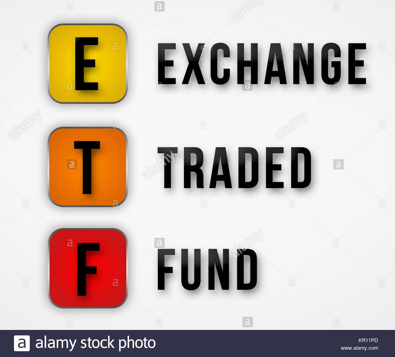 ETF - Exchange Traded Fund Stock Photo