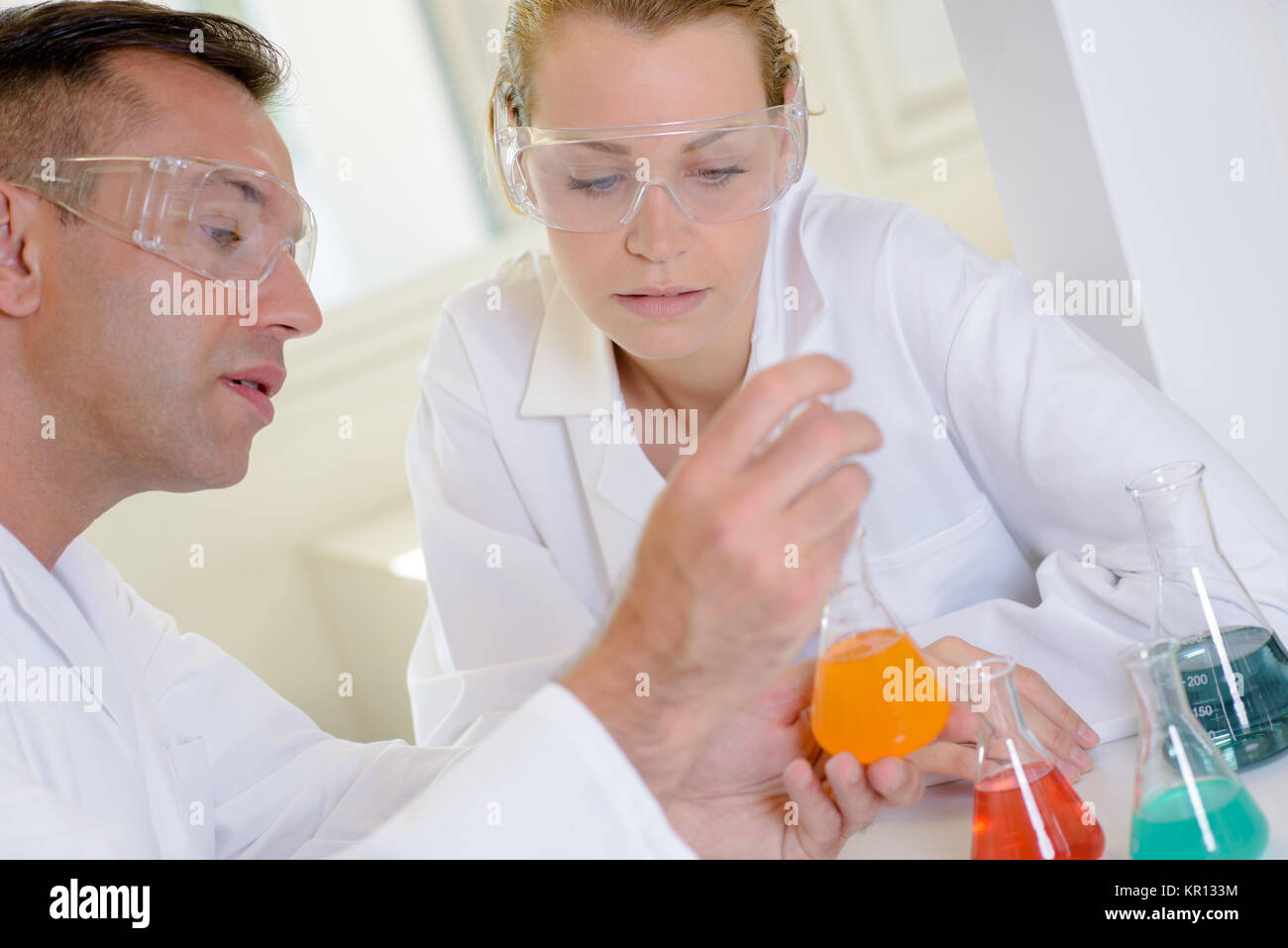 chemical experiments - Stock Image