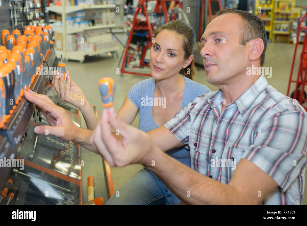 types of screwdrivers - Stock Image