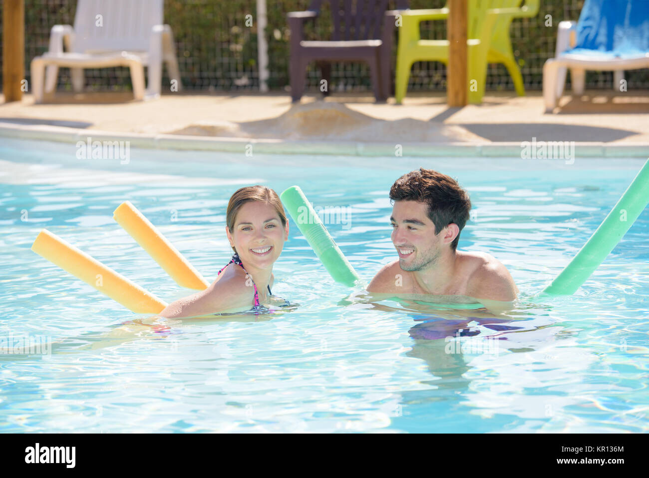 swimming time - Stock Image