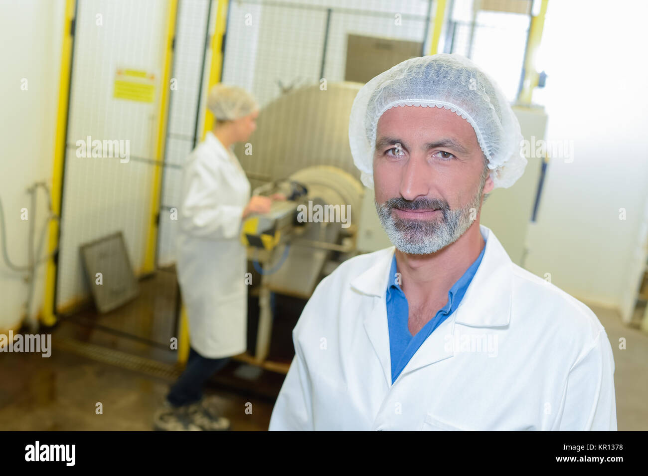 man in the factory - Stock Image