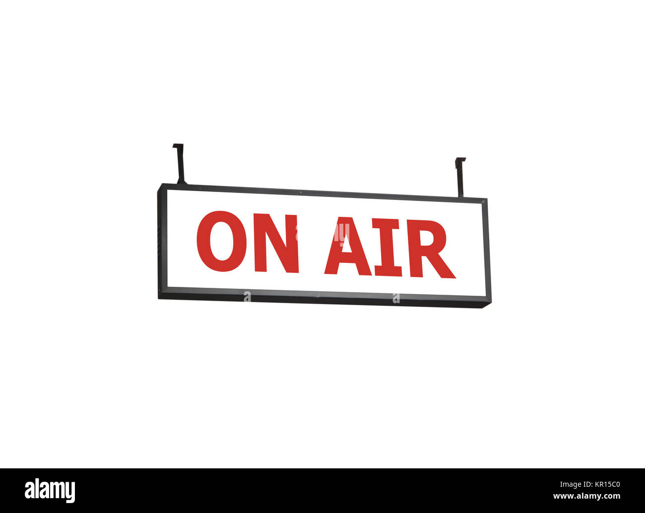 On air signboard on white background - Stock Image