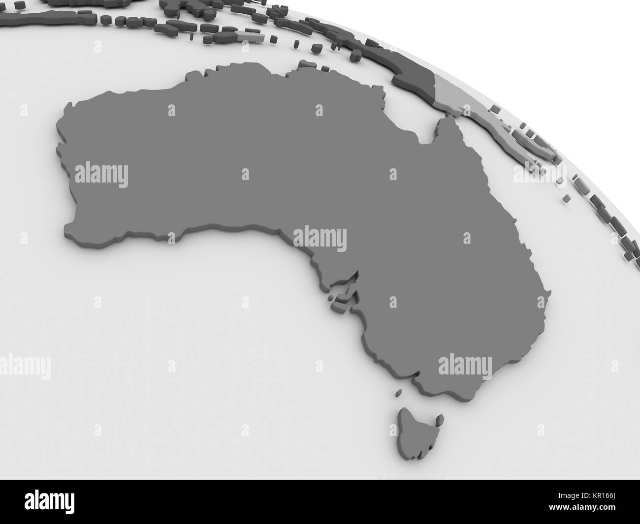 Australia Map Grey.Australia On Grey 3d Map Stock Photo 169057242 Alamy