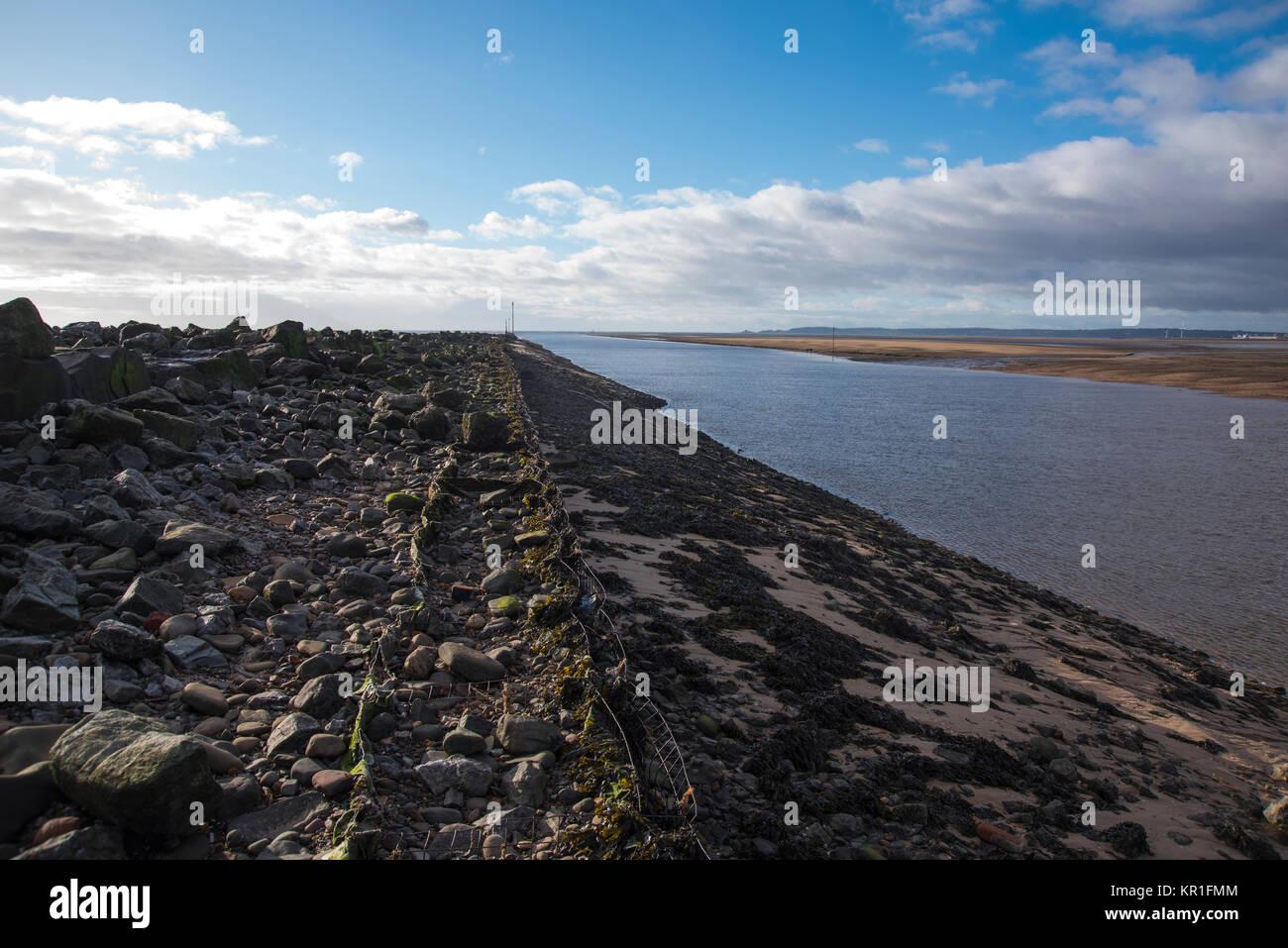 Baglan Bay and Aberavon Sands, West Glamorgan, South Wales, UK. Stock Photo