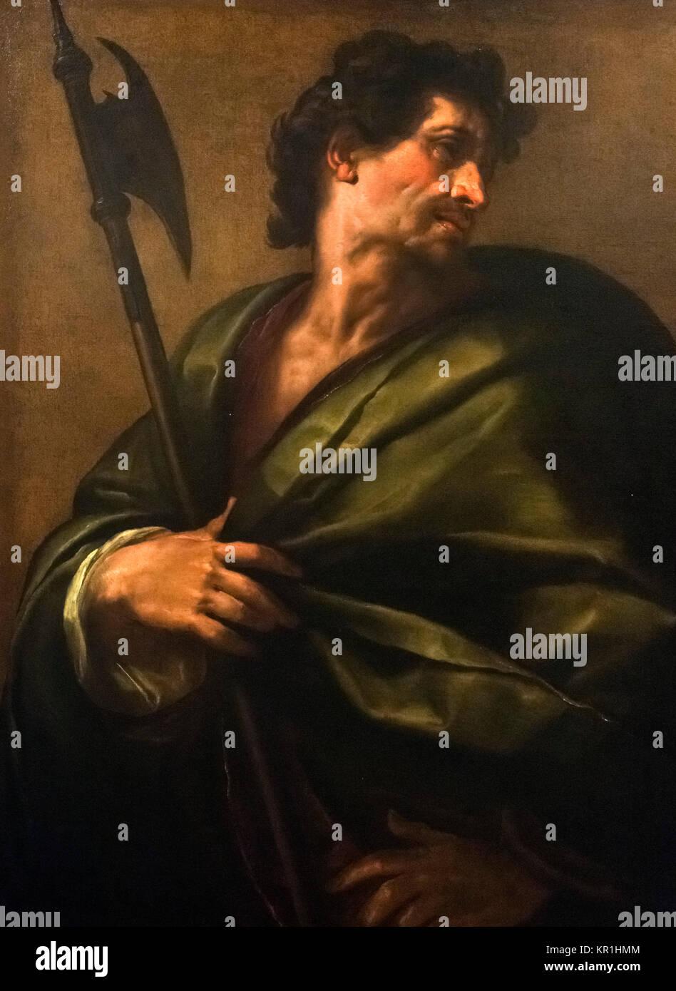 St Matthew the Apostle by Giulio Cesare Procaccini (1574-1625), 1621 - Stock Image