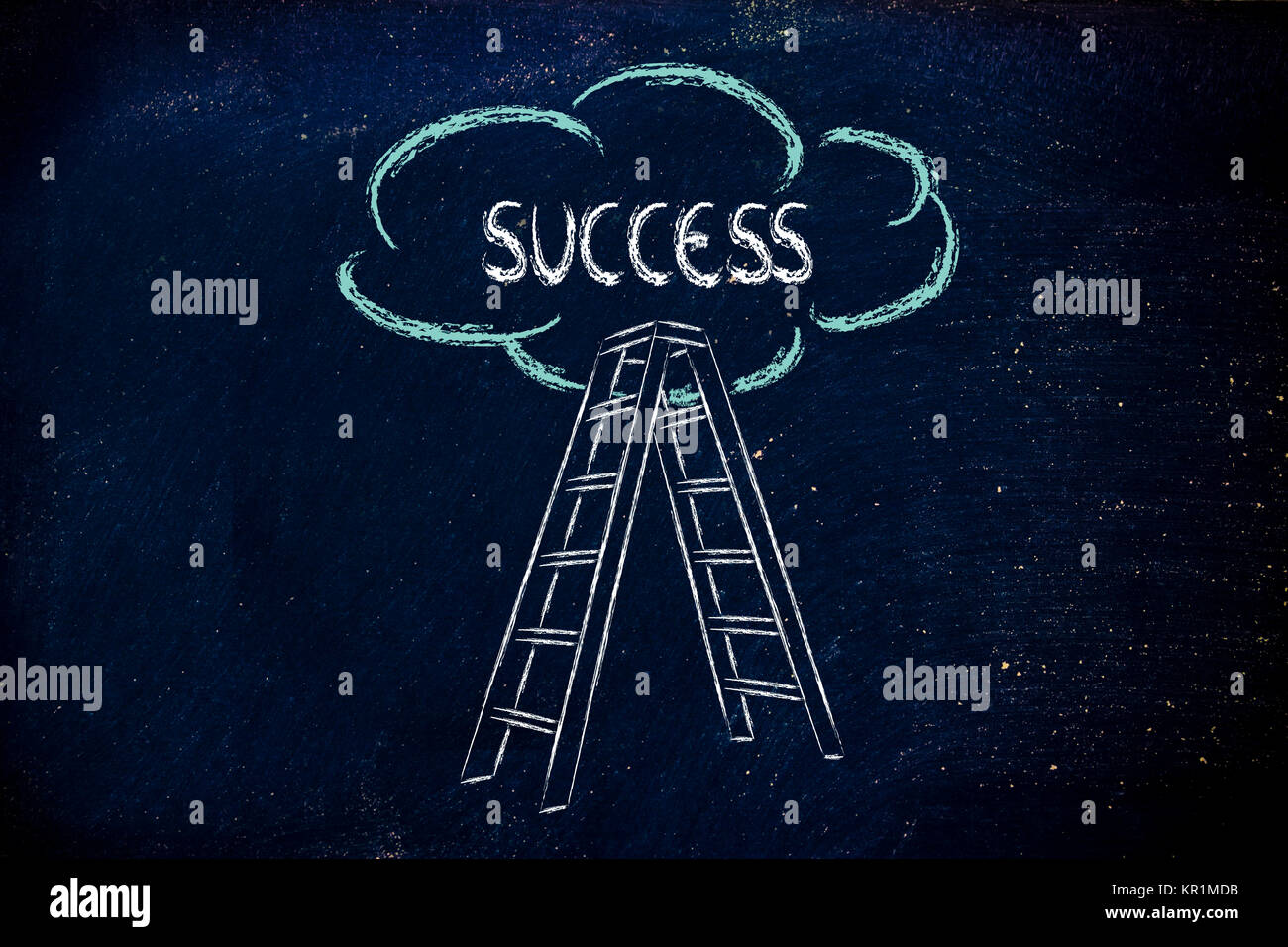 Funny Ladder Of Success Design With Motivational Writing Stock Photo Alamy