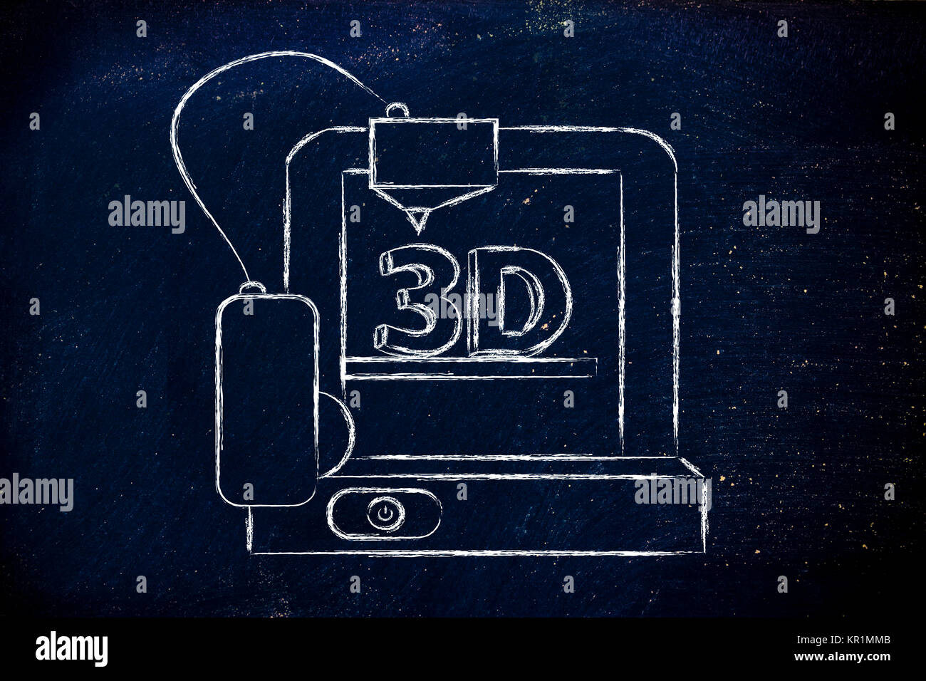 3D printer, information technology hardware innovations - Stock Image