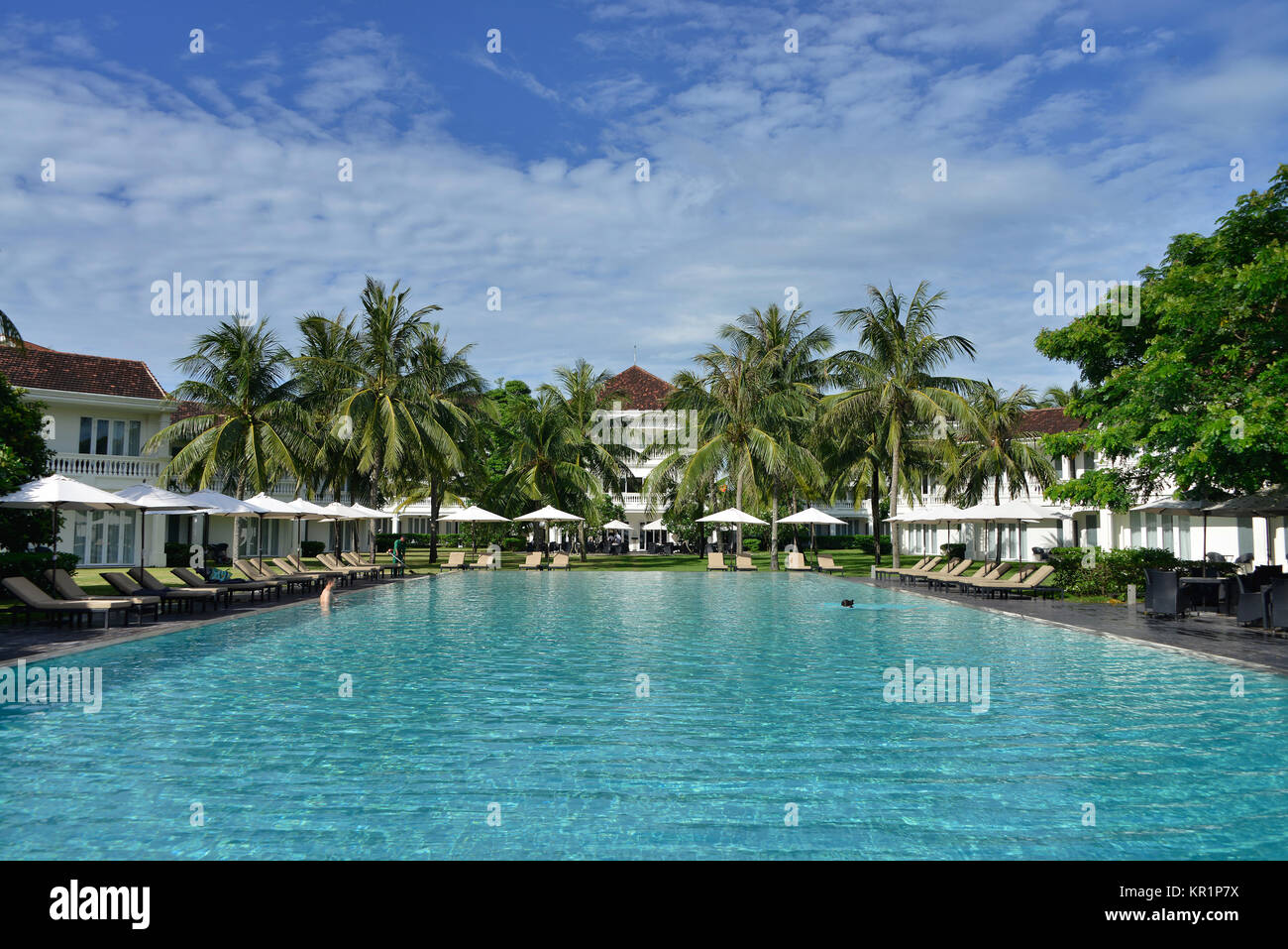 Swimming pool, boutique Hoi in Resort, Hoi In, Vietnam, Swimmingpool, Boutique Hoi An Resort, Hoi An Stock Photo