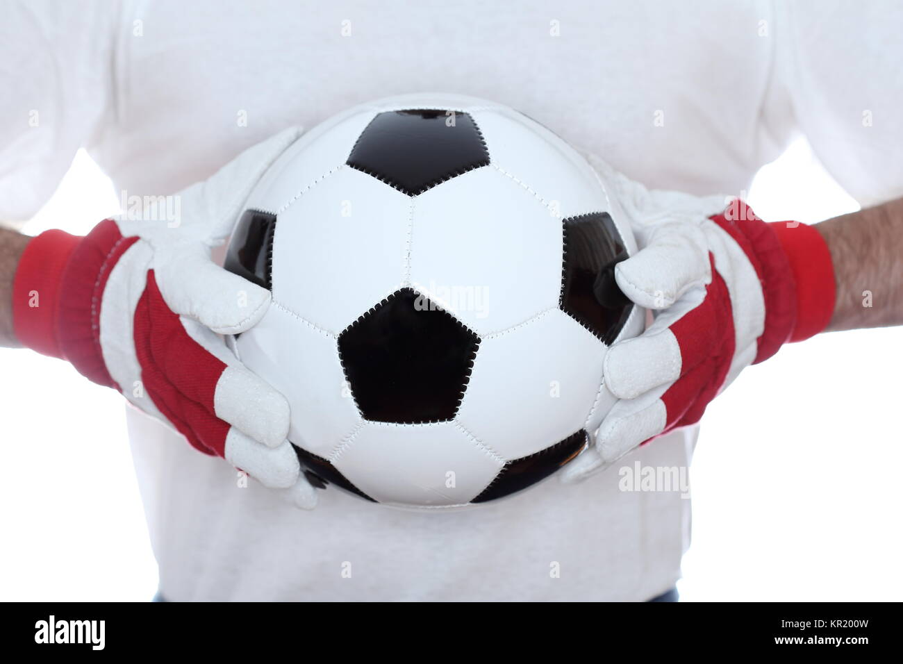 captured ball - Stock Image