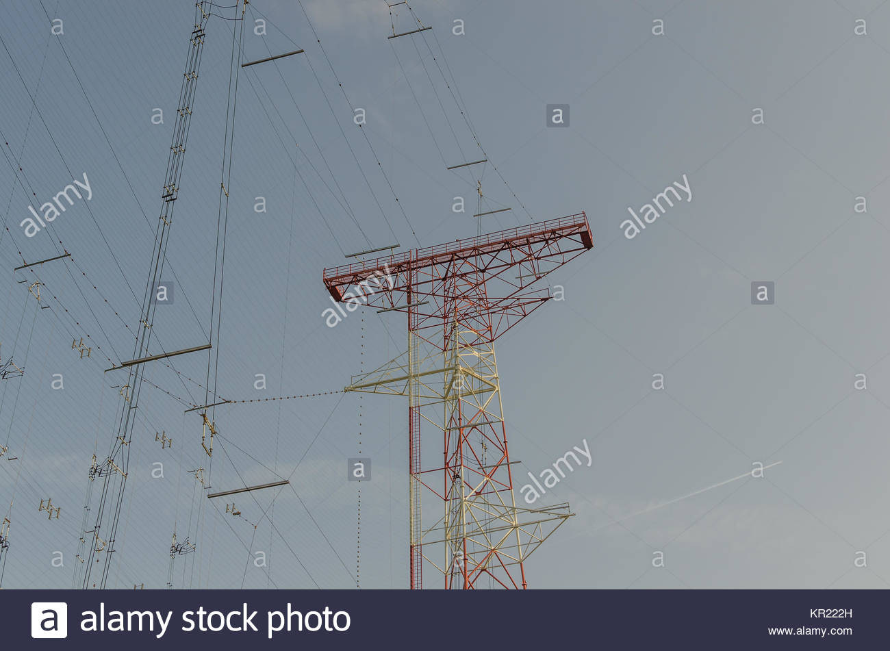 transmission system sky Stock Photo