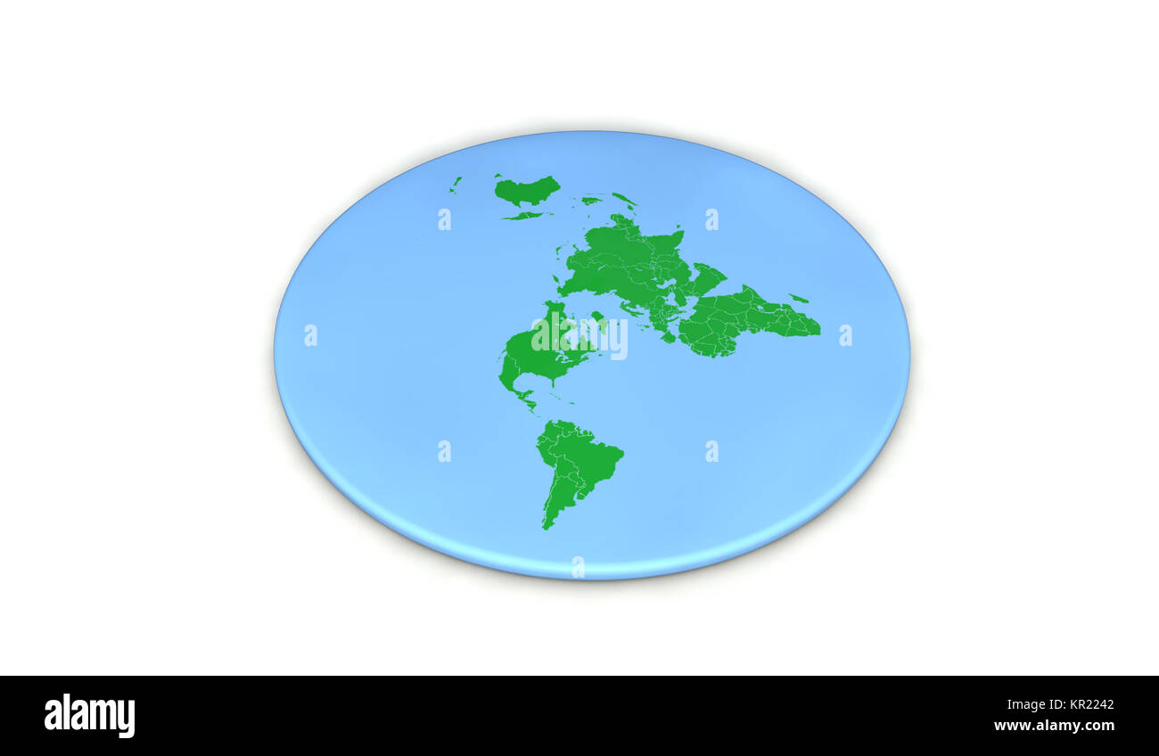 Flat earth society stock photos flat earth society stock images flat earth concept 3d rendering stock image gumiabroncs Gallery