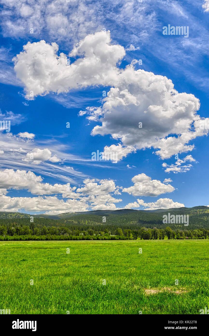 Big skies, Montana Stock Photo