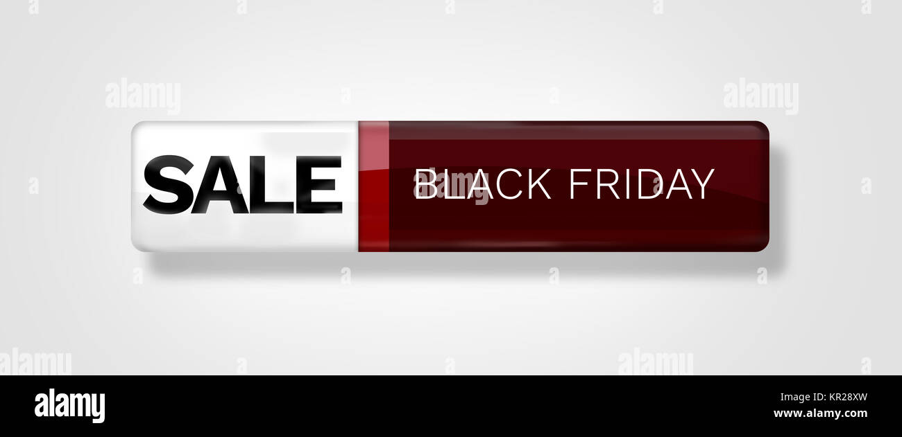red glossy sale icon button blank isolated Stock Photo