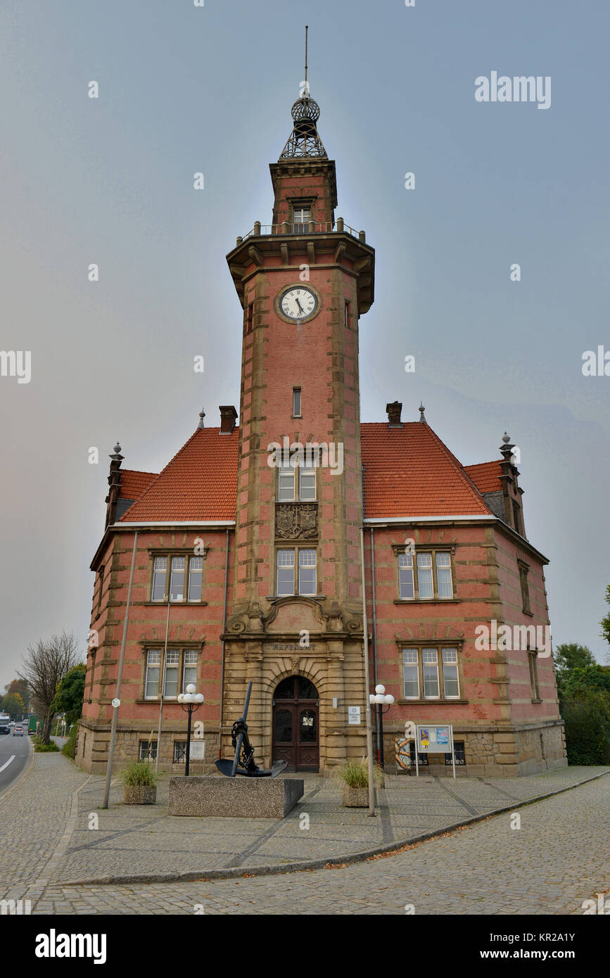 Old port authority, harbour, Dortmund, North Rhine-Westphalia, Germany, Altes Hafenamt, Hafen, Nordrhein-Westfalen, - Stock Image