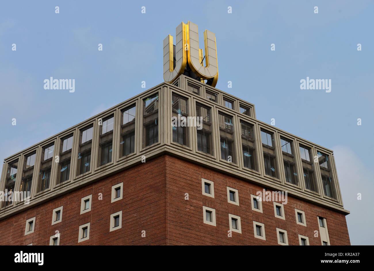 Dortmund U, Leonie Reygers terrace, Dortmund, North Rhine-Westphalia, Germany, Dortmunder U, Leonie-Reygers-Terrasse, - Stock Image