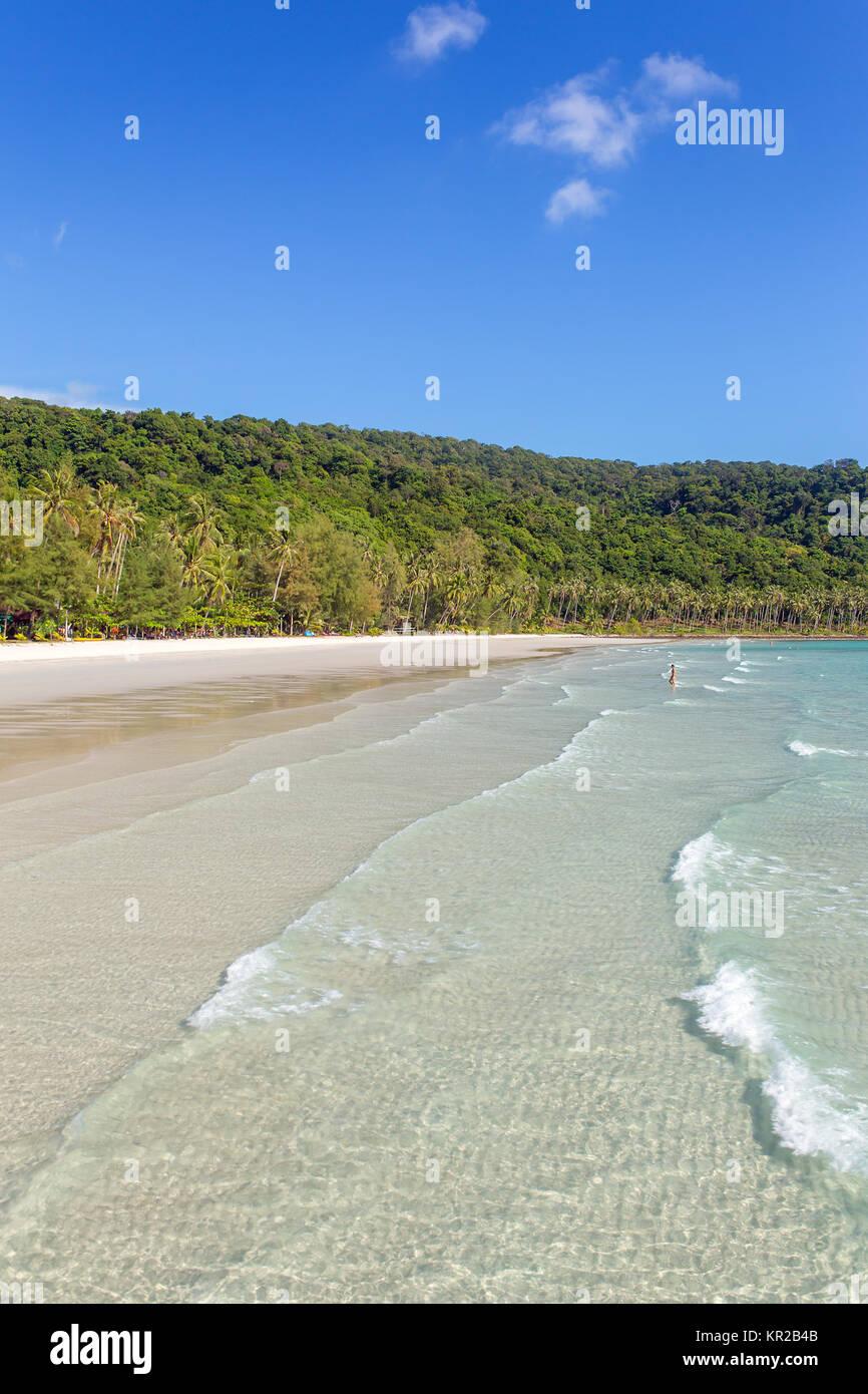 Beautiful tropical beach on Koh Kood island in Thailand - Stock Image
