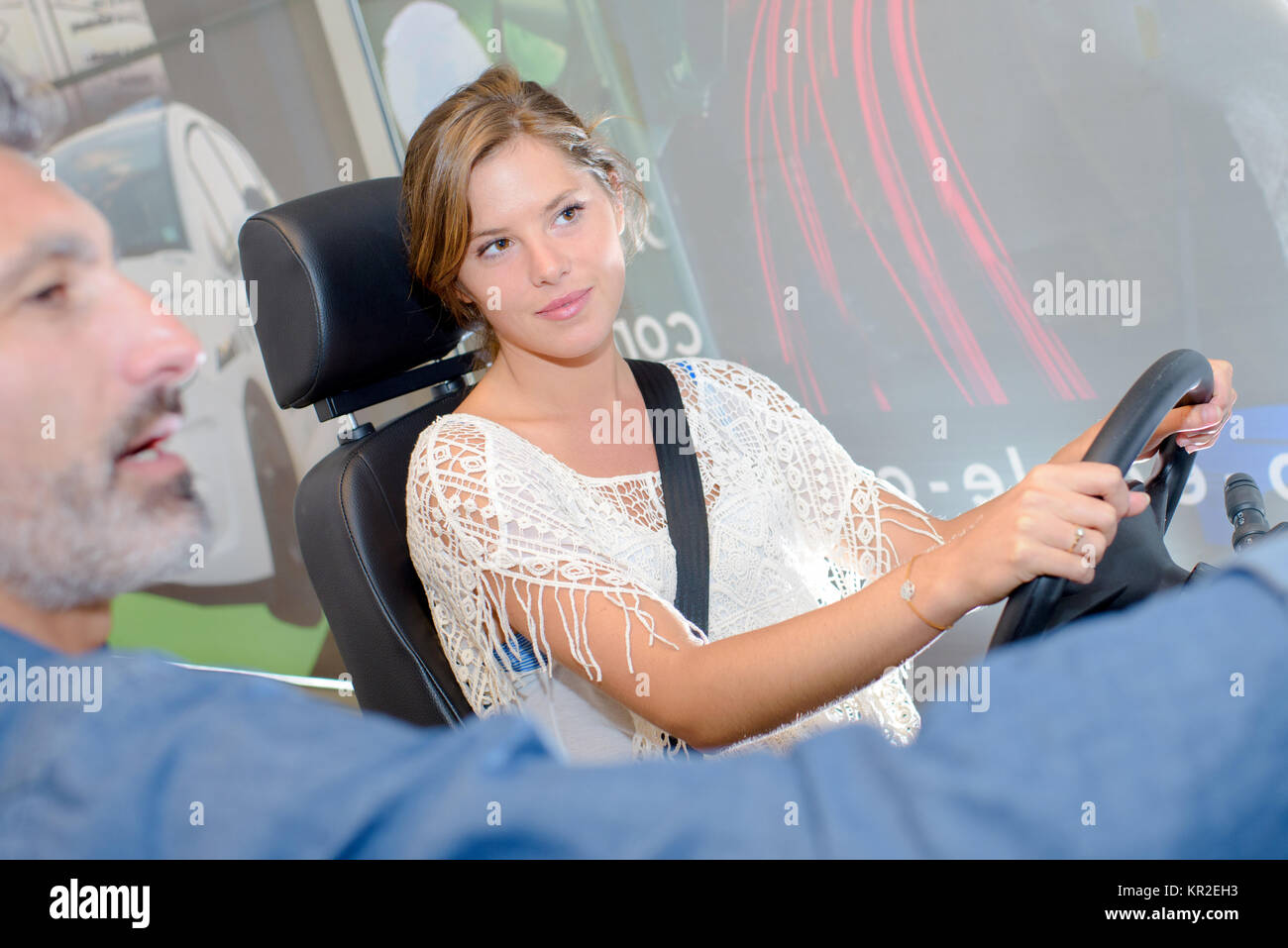 driving instructions - Stock Image
