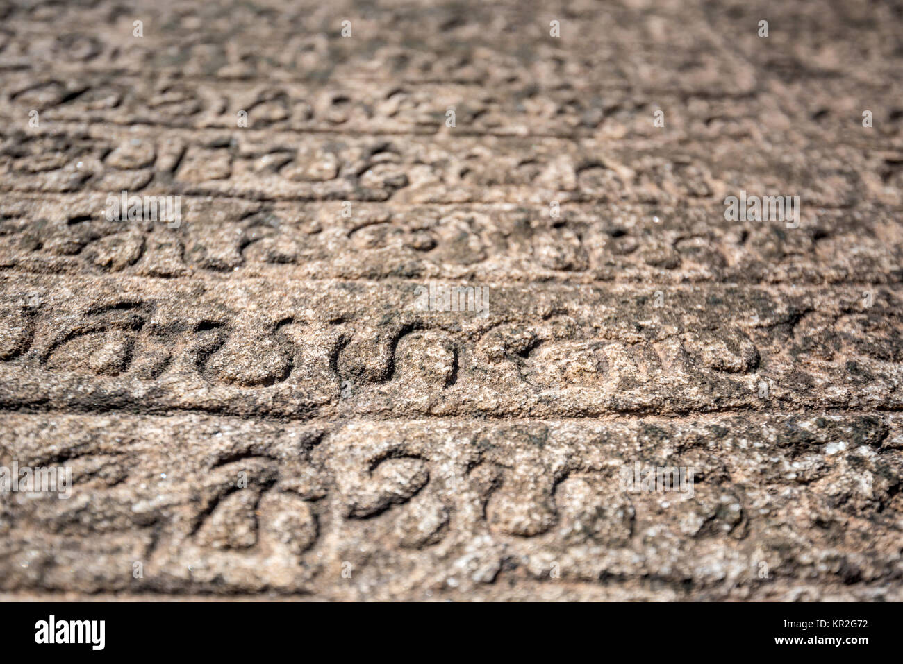 Ancient Sinhalese Scripts - Stock Image