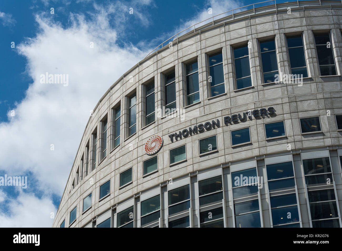 Thomson Reuters Building, One Canada Square, Canary Wharf, London, England, United Kingdom - Stock Image