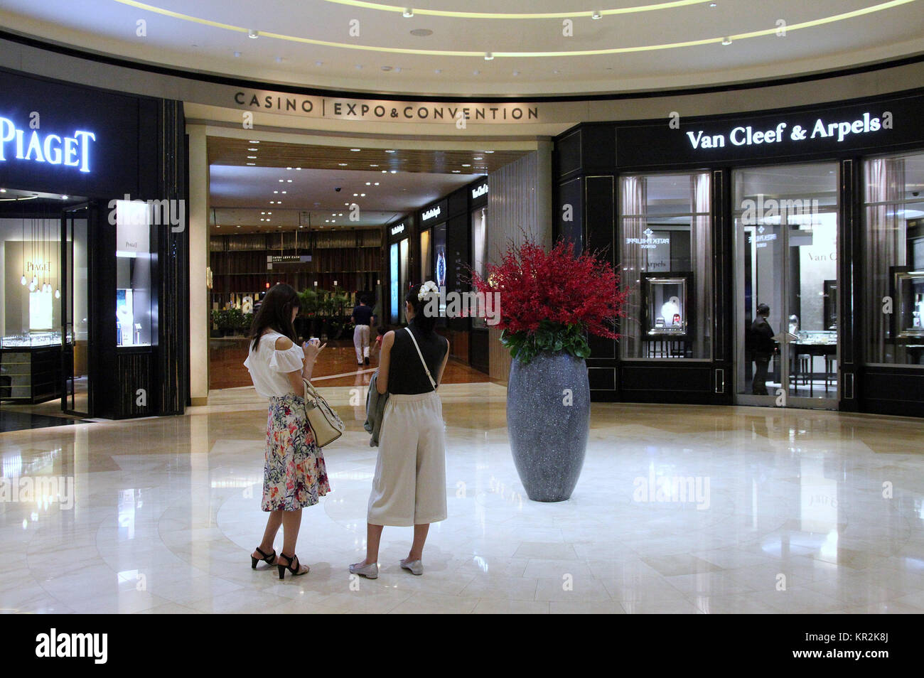 The Shoppes at Marina Bay Sands Hotel in Singapore - Stock Image