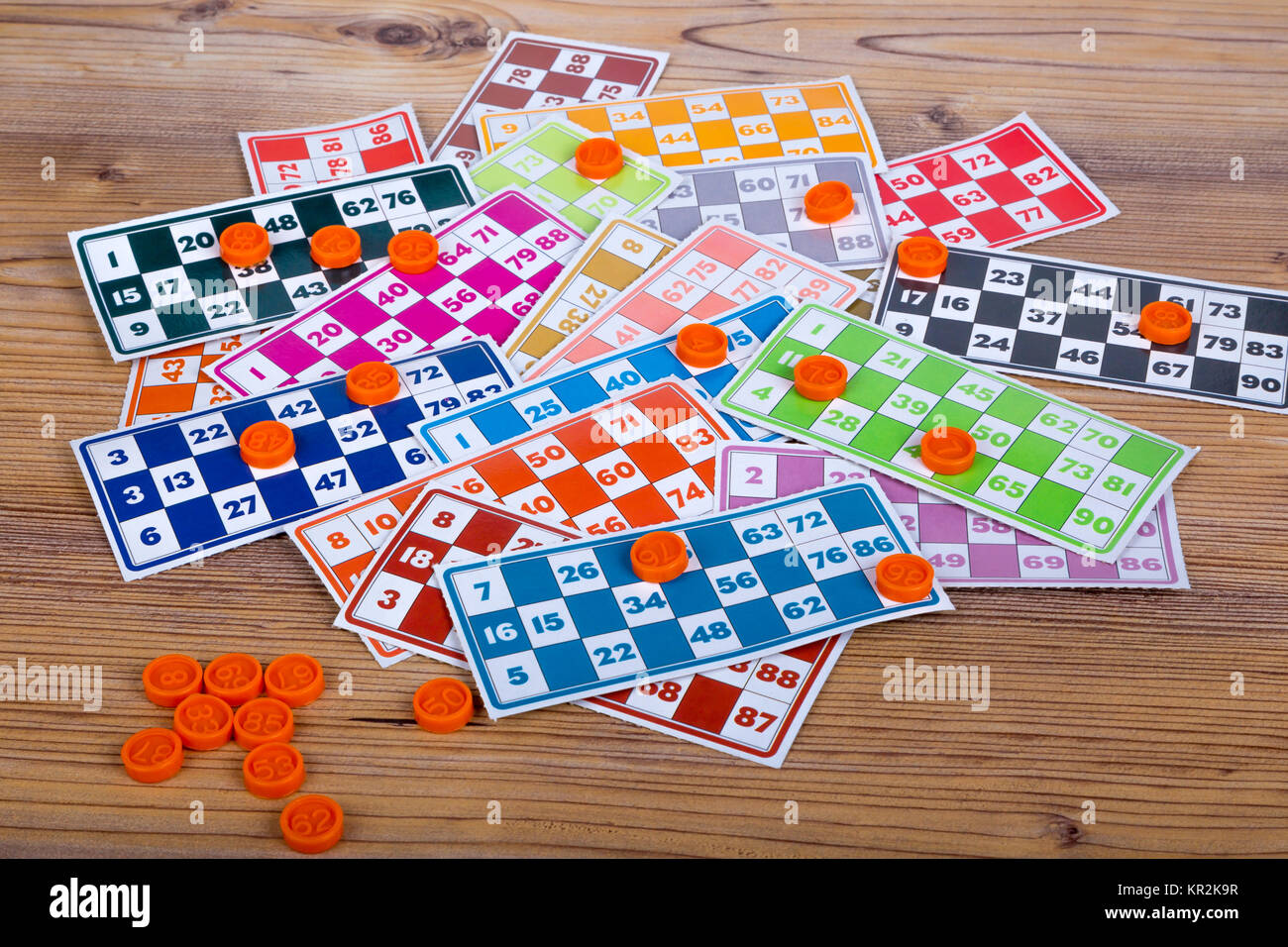 Tombola Lottery Numbers Stock Photos & Tombola Lottery