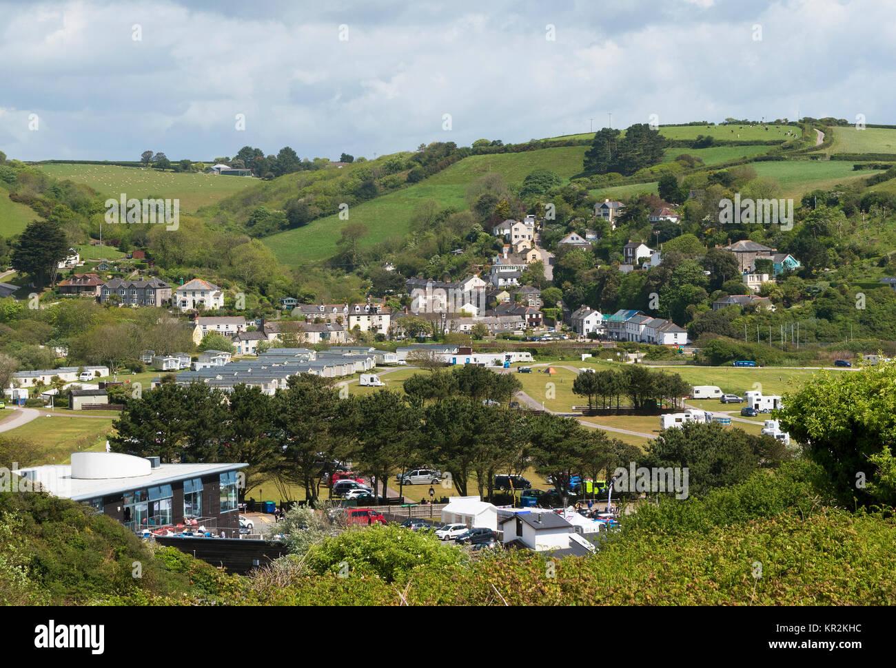 the village of pentewan in cornwall, england, britain, uk. Stock Photo