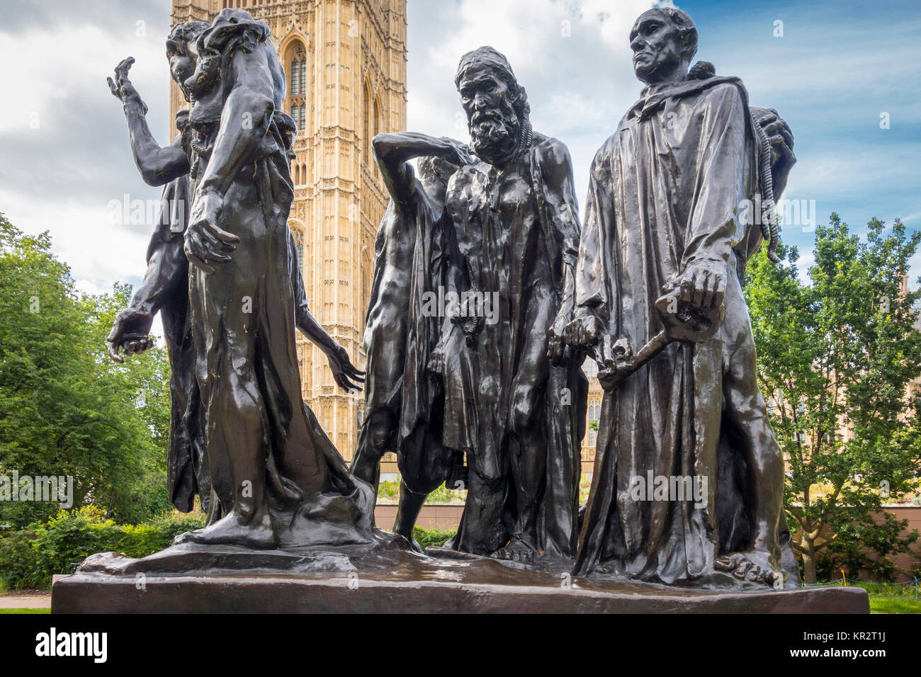 The Burghers of Calais, Auguste Rodin. Cast of the original sculpture situated in Victoria Tower Gardens, Westminster, - Stock Image