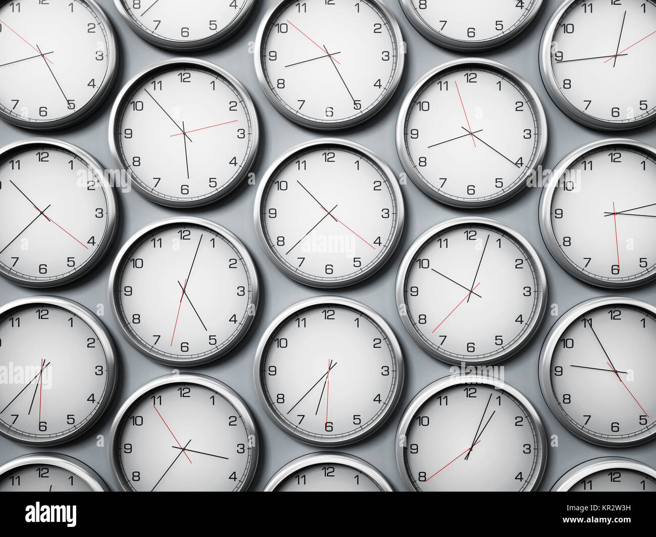 Modern wall clocks showing different time zones of world cities 3d modern wall clocks showing different time zones of world cities 3d illustration gumiabroncs Gallery