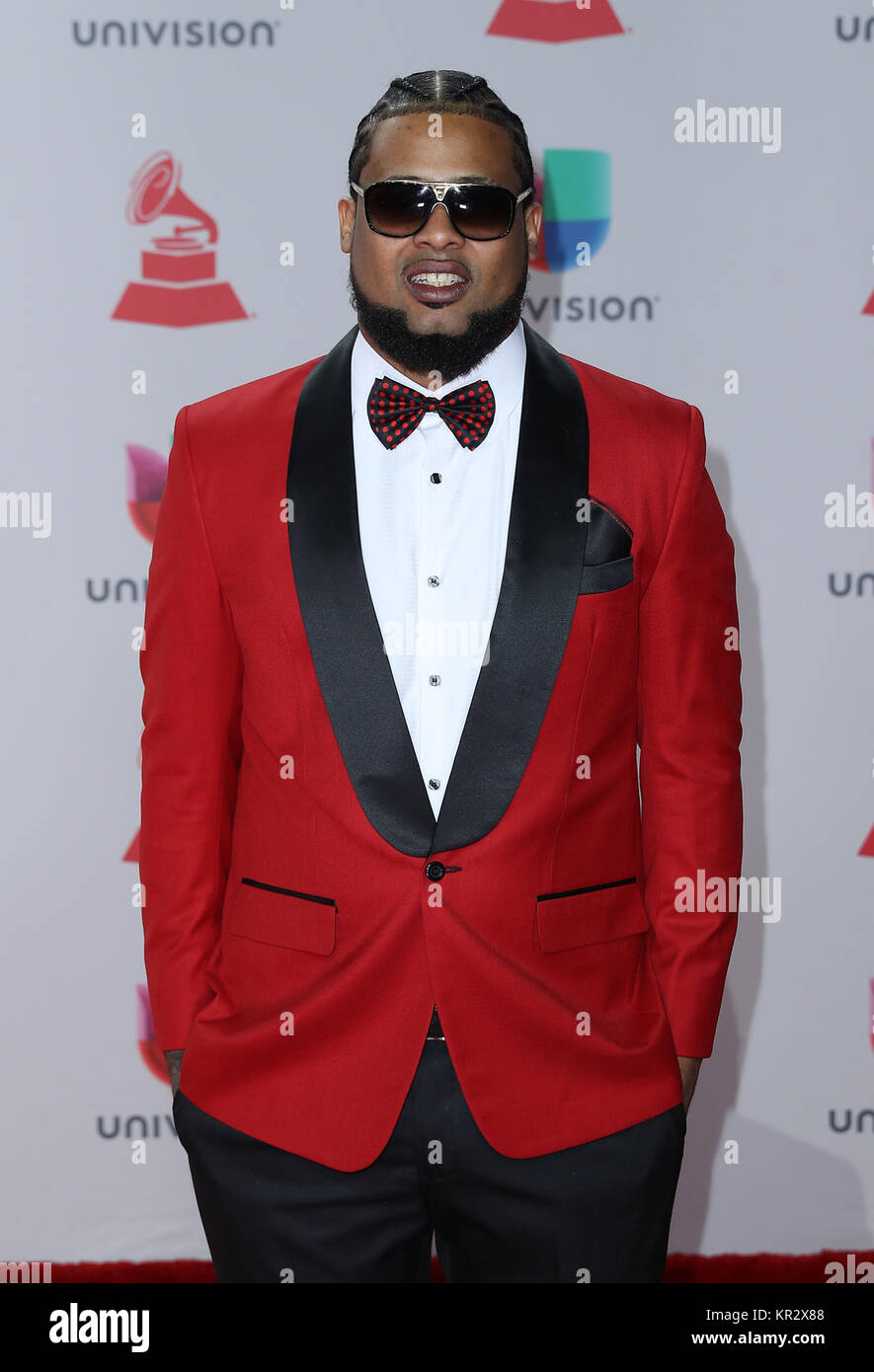 18th Annual Latin Grammy Awards at MGM Grand Garden Arena - Arrivals  Featuring: Lapiz Conciente Where: Las Vegas, - Stock Image