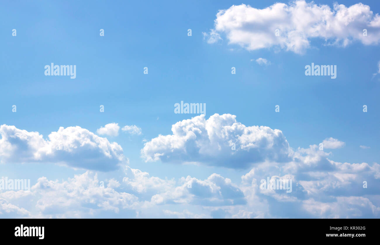 blue sky with cloud - Stock Image