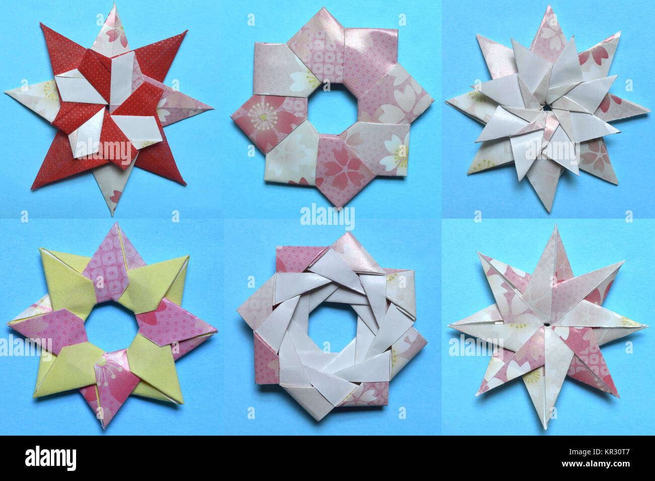 Origami Modular Spiral Star | How To Make A Spiral Spring Paper ... | 954x1300