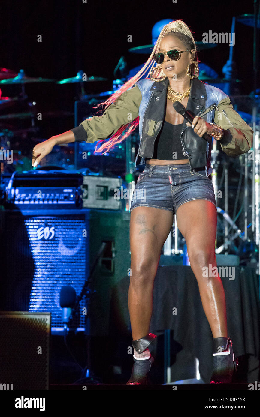 Mary J Blige  at the Nice Jazz Festival on 2017/07/19 - Stock Image