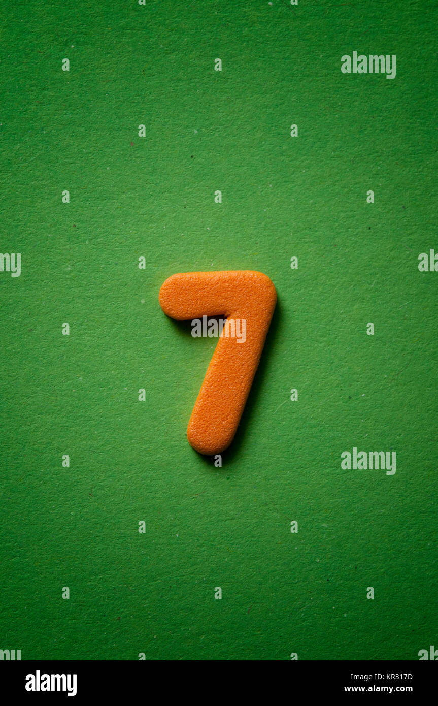 number seven - Stock Image
