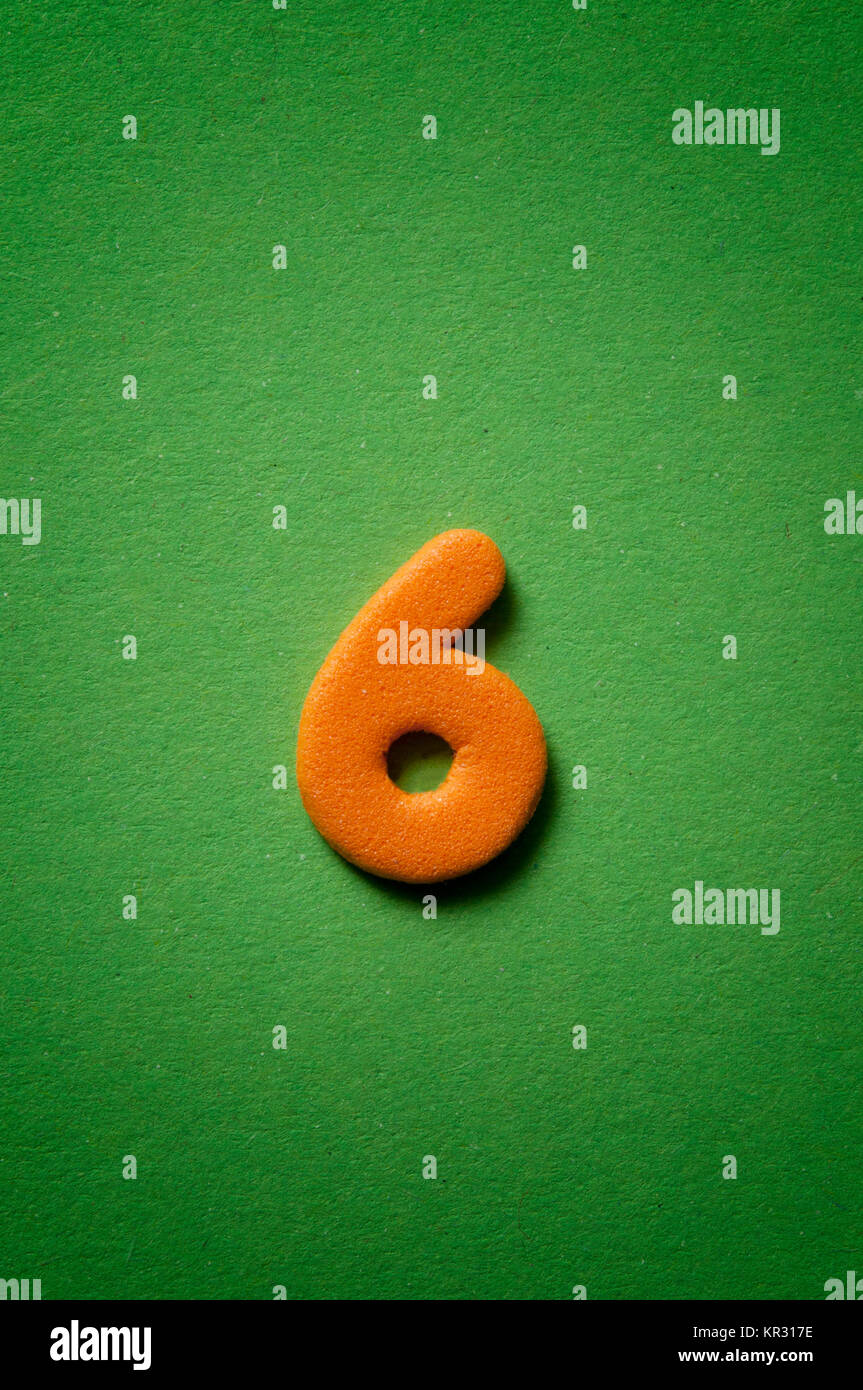 number six - Stock Image