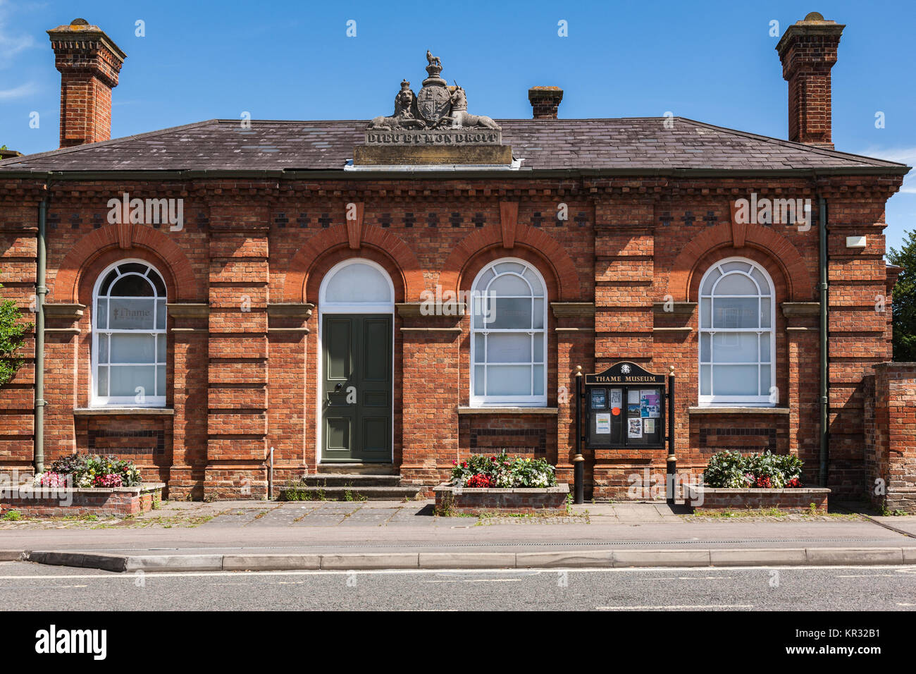 Exterior of the front of the Thame museum in Thame Oxfordshire UK - Stock Image