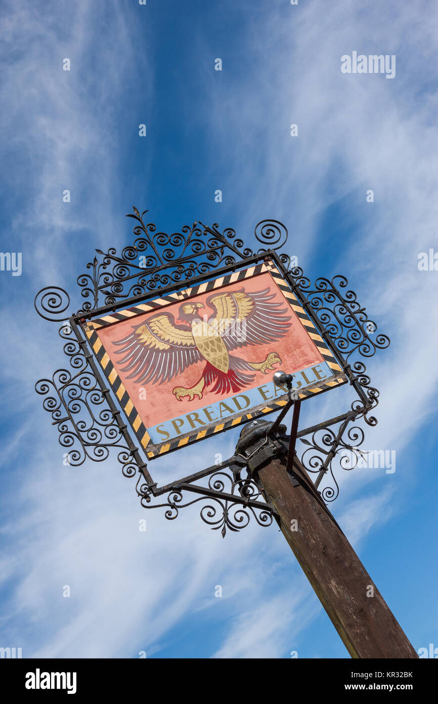 The Spread Eagle sign Thame Oxfordshire UK - Stock Image