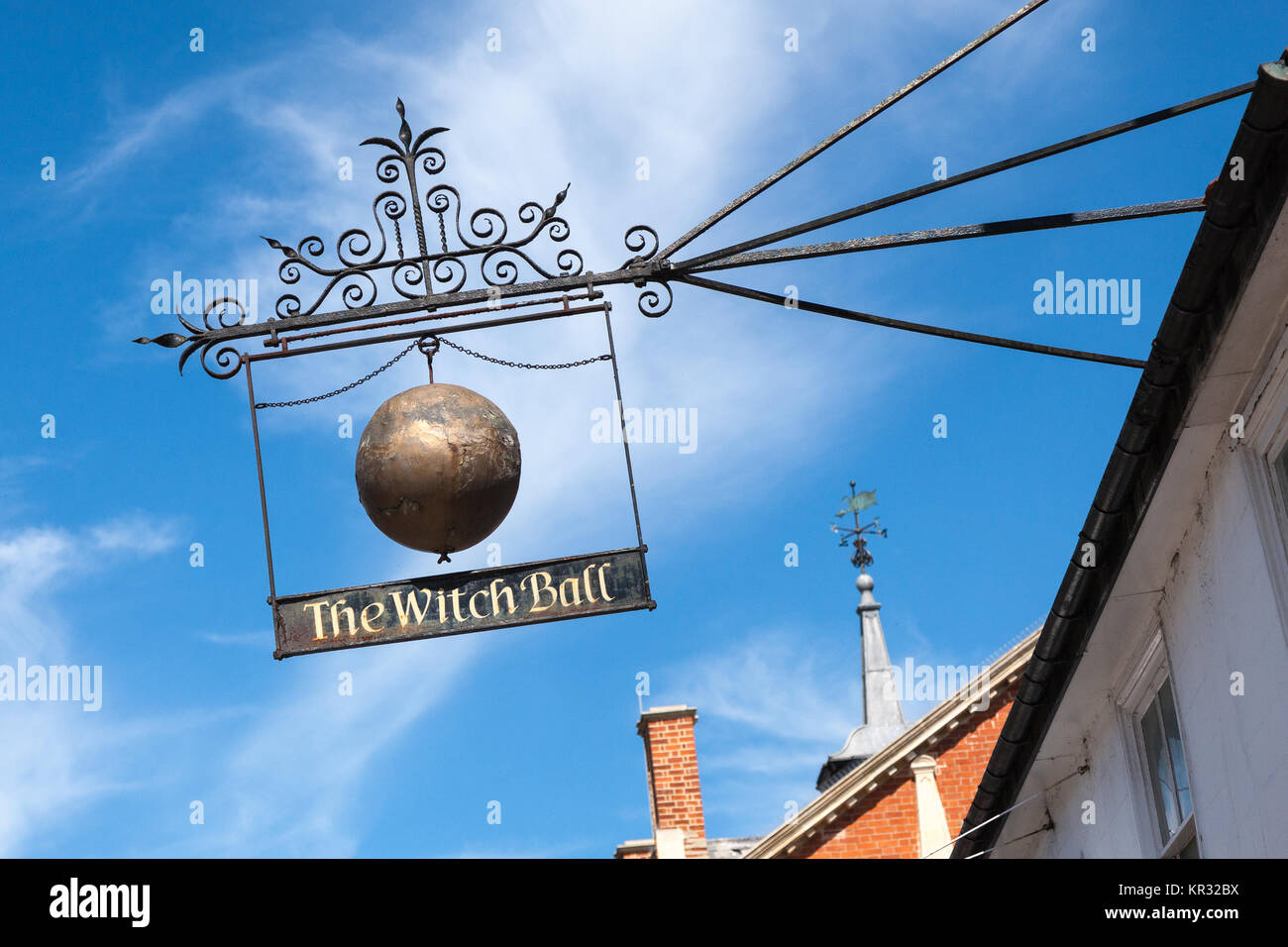 The Whitch Ball sign Thame Oxfordshire UK - Stock Image