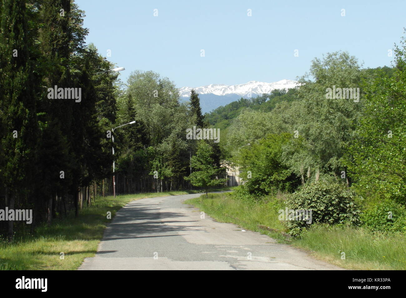 Clear nature in Mussera, Abkhazia - Stock Image