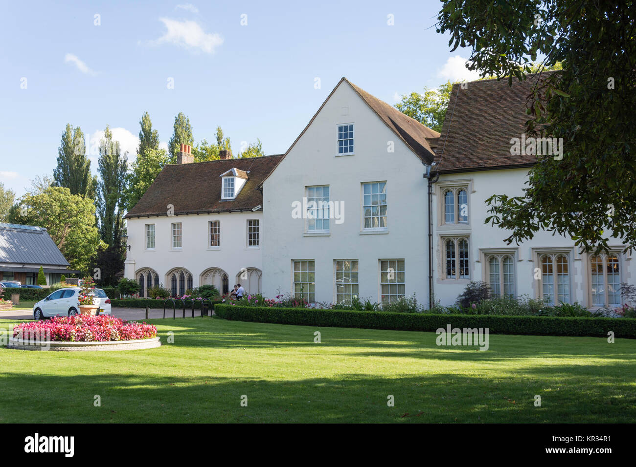 14th century The Priory building (Ware Town Council), High Street, Ware, Hertfordshire, England, United Kingdom - Stock Image