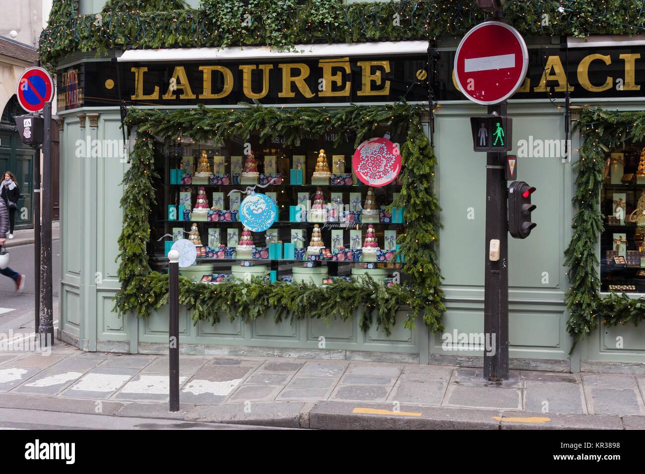 Ladurée , Rue Bonaparte, Paris, France - Stock Image