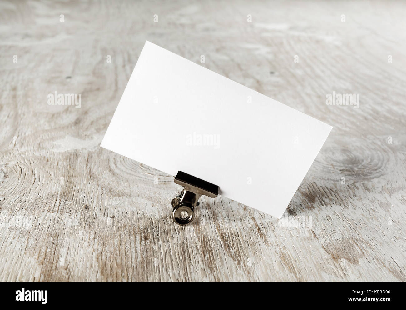 Photo of blank business card - Stock Image