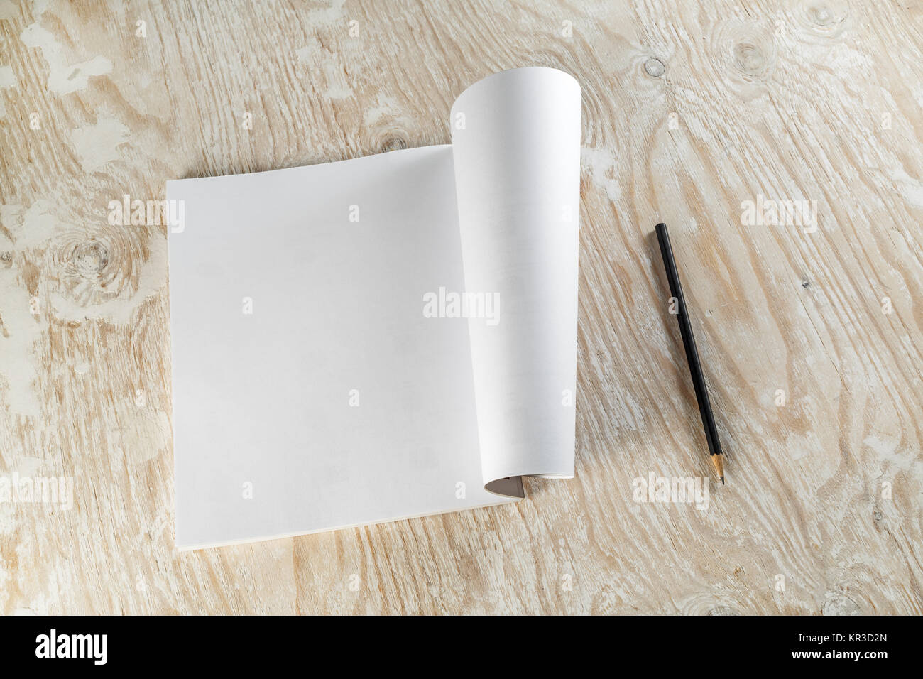 Brochure and pencil - Stock Image