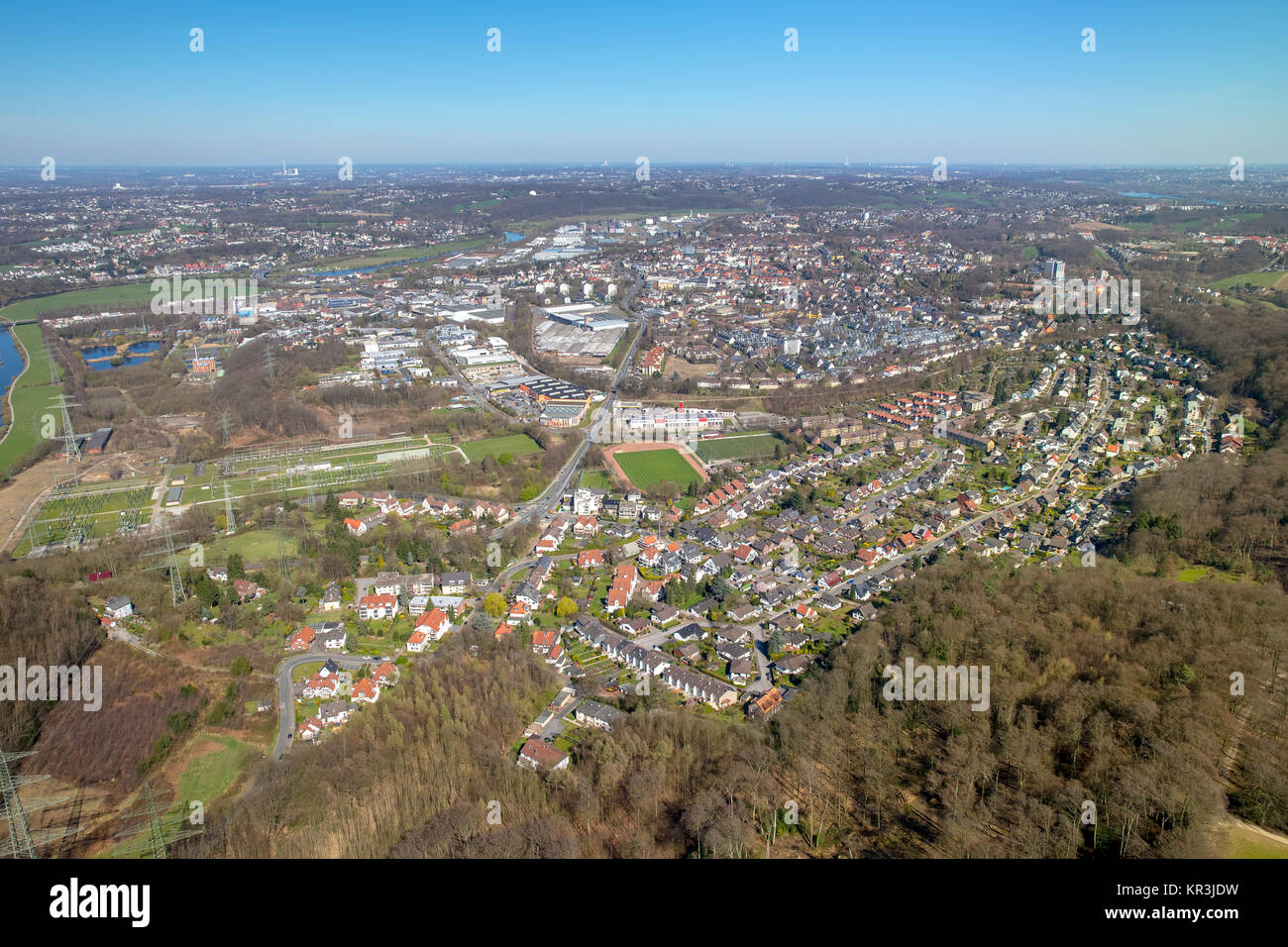 Hattingen Southern city, Hattingen, Ruhr, Nordrhein-Westfalen, Germany, Hattingen, Ruhr, Nordrhein-Westfalen, Germany, Stock Photo