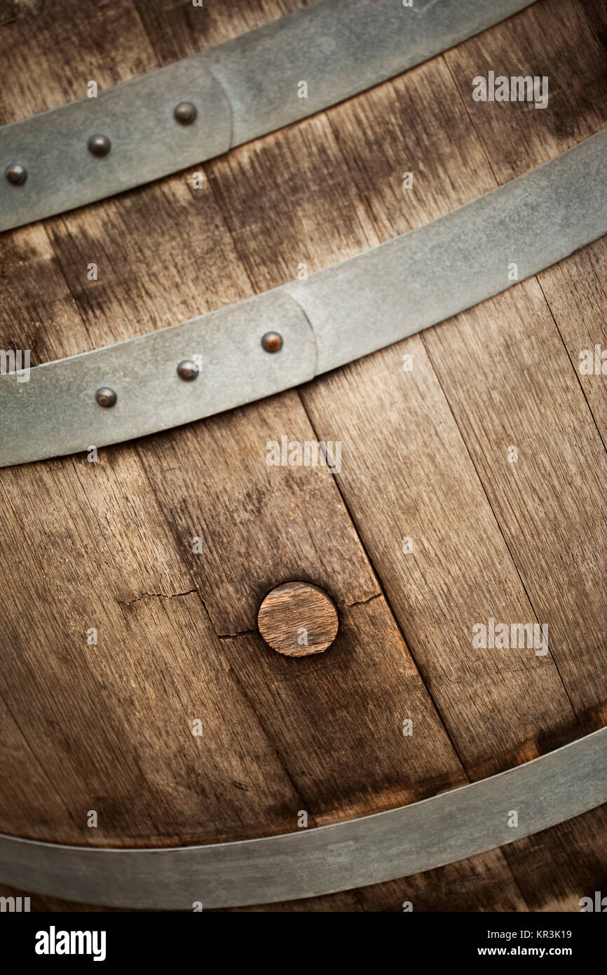 Close up of a barrel - Stock Image