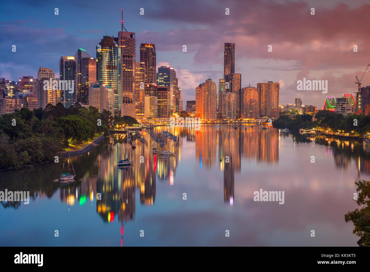 Brisbane. Cityscape image of Brisbane skyline, Australia during sunrise. Stock Photo